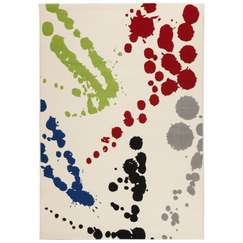 Tapis contemporain et design ROUBE rectangulaire (multicolore) - image 20489