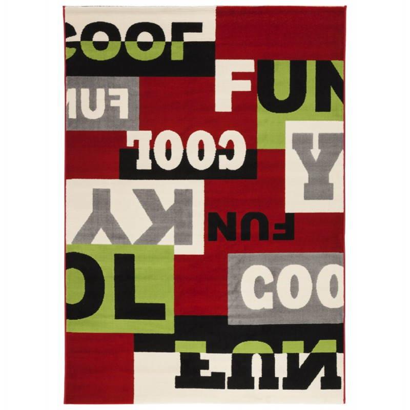 Alfombras contemporáneas y de diseño rectangular LOUKAN (multicolor)