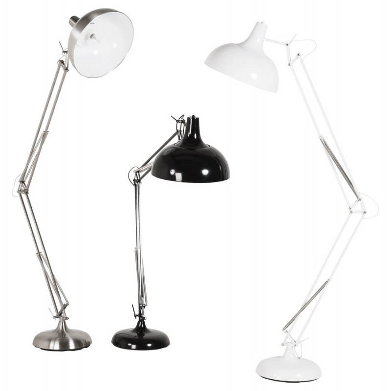 Pie de lámpara diseño COTINGA cepillado de metal (aluminio) - image 20518
