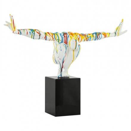Statue Form Schwimmer BANCO Fiberglas (multicolor)