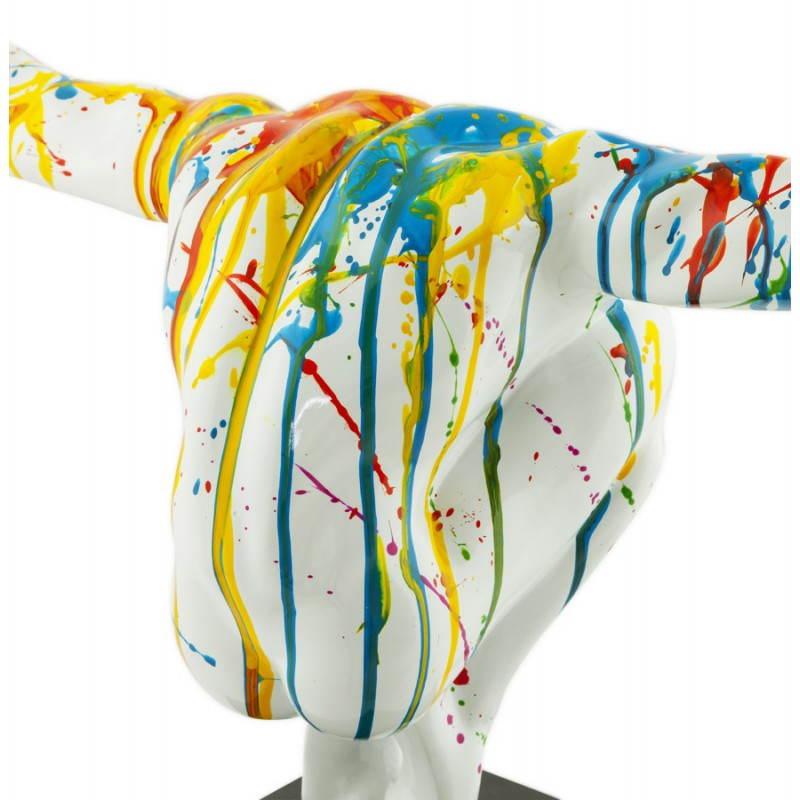 Statue forme nageur BANCO en fibre de verre (multicolore) - image 20527