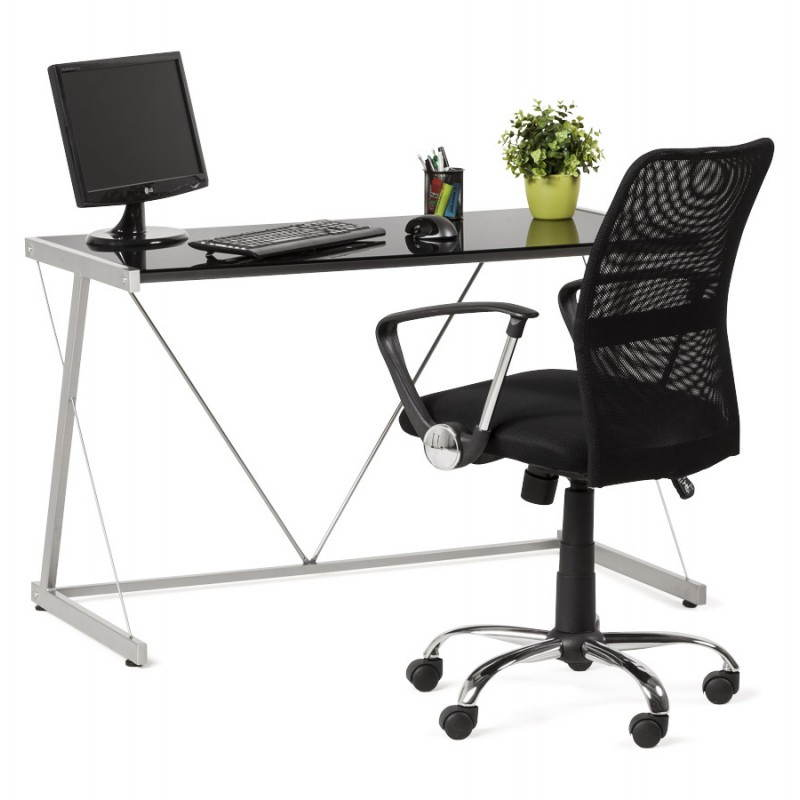Office design BARY glass and metal (transparent black) - image 20569