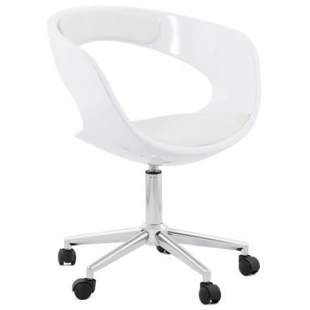 Rotazione sfera Sedia da ufficio RAMOS (bianco)