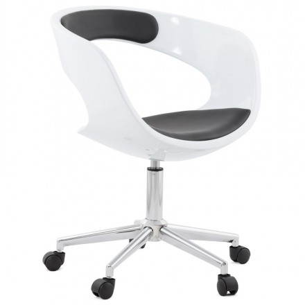 Silla de oficina Sphere giratoria RAMOS (blanco y negro)
