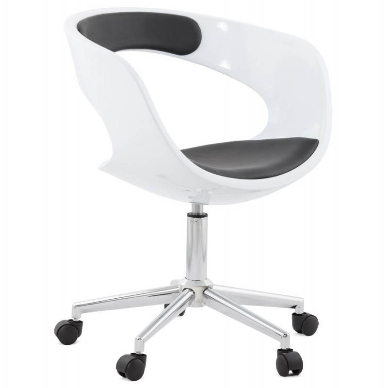 RAMOS rotating sphere office chair (white and black) - image 20584