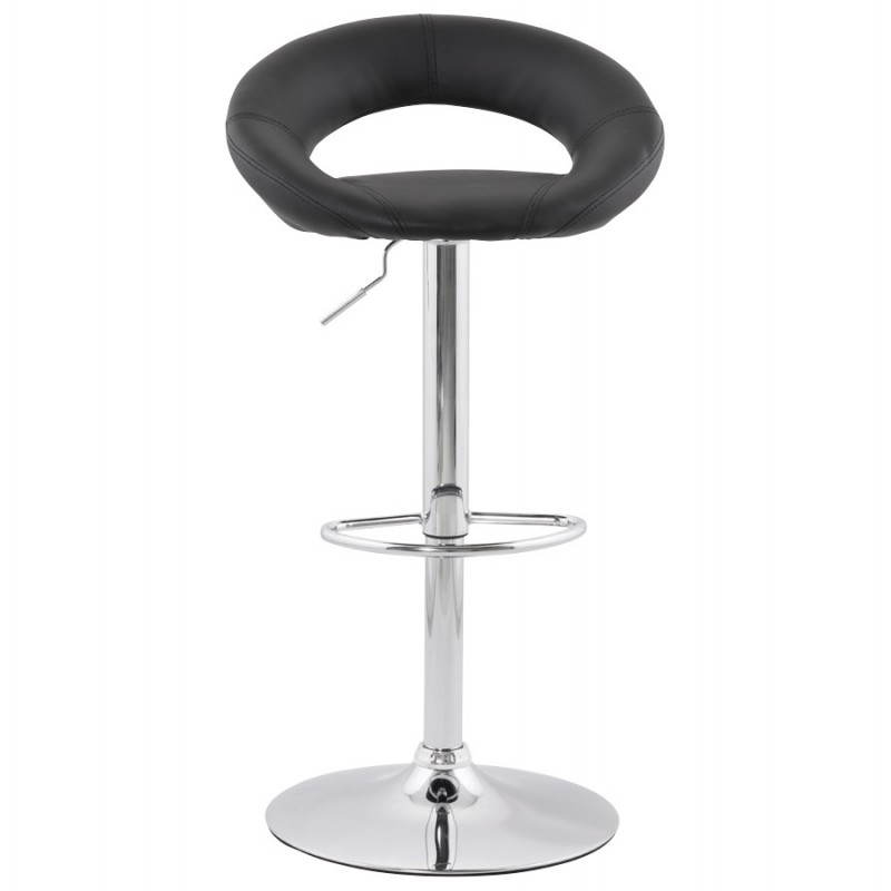 Contemporary round and adjustable bar stool IRIS (black) - image 20609