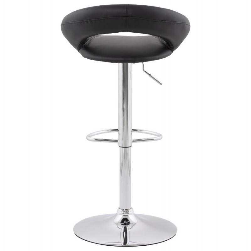 Contemporary round and adjustable bar stool IRIS (black) - image 20612