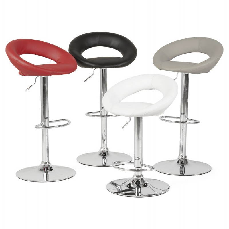 Contemporary round and adjustable bar stool IRIS (black) - image 20625