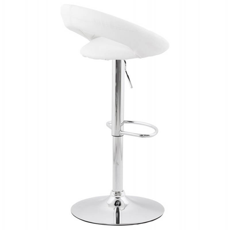 Contemporary round and adjustable bar stool IRIS (white) - image 20629