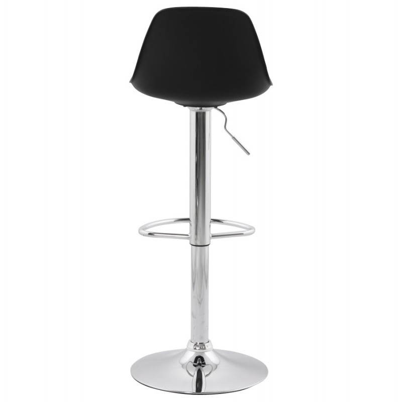 Tabouret de bar rond contemporain rotatif et réglable ROBIN (noir) - image 20668