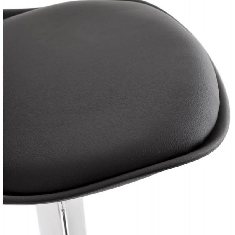 Tabouret de bar rond contemporain rotatif et r glable robin noir - Tabouret de bar rond ...