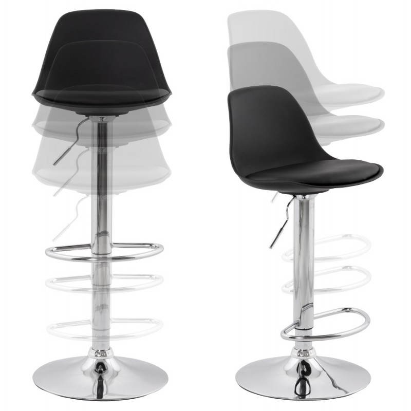 tabouret de bar rond contemporain rotatif et r glable. Black Bedroom Furniture Sets. Home Design Ideas