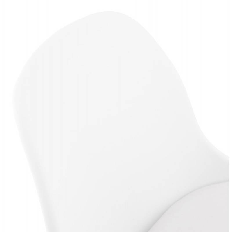 ROBIN Compact Rotary and Adjustable Bar Stool (White) - image 20685