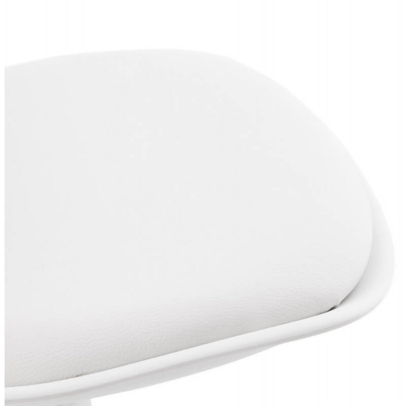 ROBIN Compact Rotary and Adjustable Bar Stool (White) - image 20687