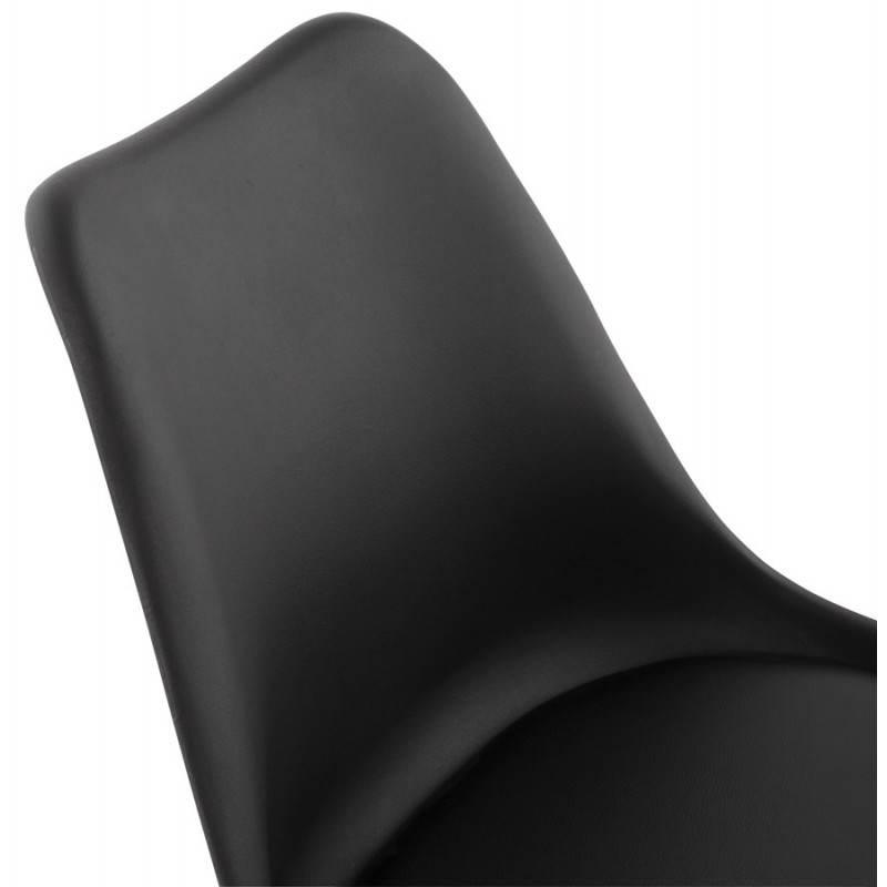 Chaise de bureau design PAUL en polyuréthane et métal chromé (noir) - image 20701