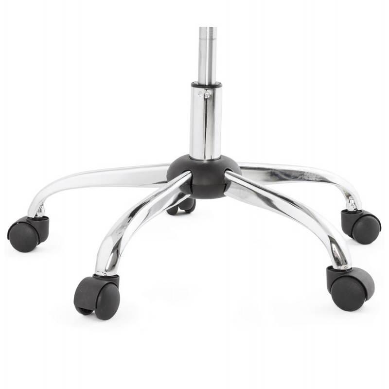 Chaise de bureau design PAUL en polyuréthane et métal chromé (noir) - image 20706