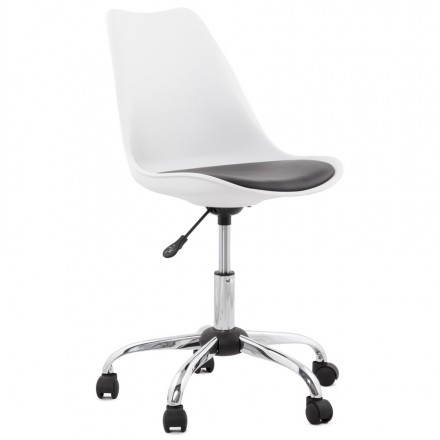 PAUL design office in polyurethane and chrome metal (white and black) Chair