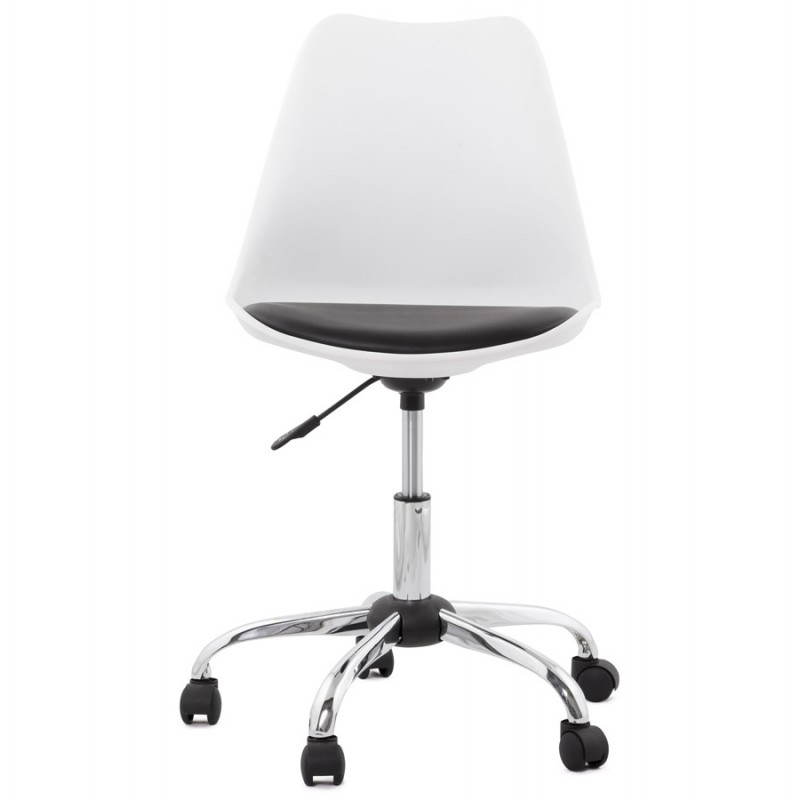 PAUL design office in polyurethane and chrome metal (white and black) Chair - image 20725