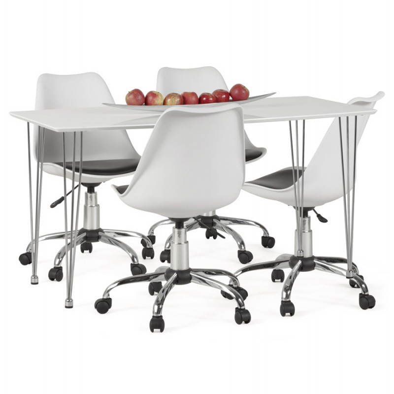 PAUL design office in polyurethane and chrome metal (white and black) Chair - image 20737