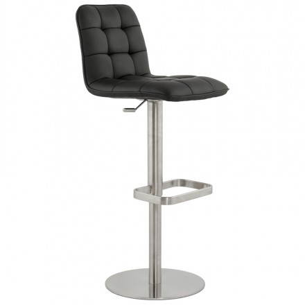 Adjustable quilting and adjustable bar stool ANAIS (black)