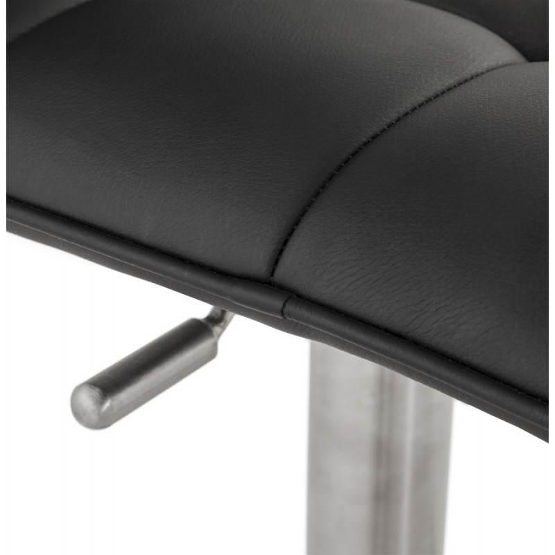 Tabouret de bar matelassé rotatif et réglable ANAIS (noir) - image 20746