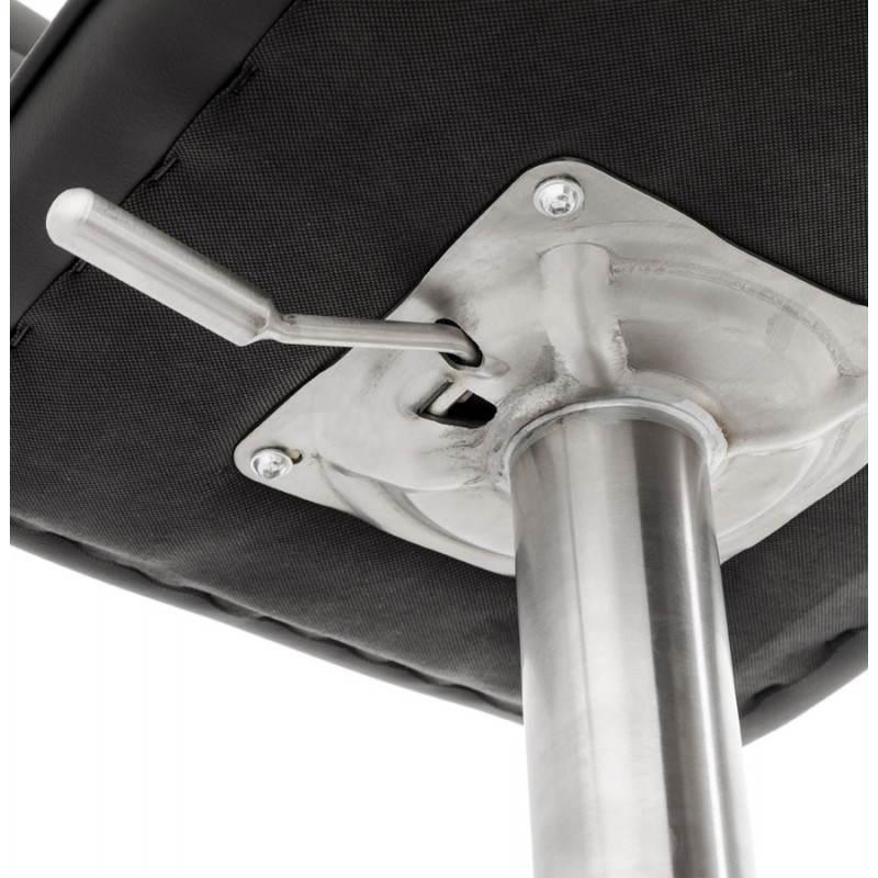 Tabouret de bar matelassé rotatif et réglable ANAIS (noir) - image 20750