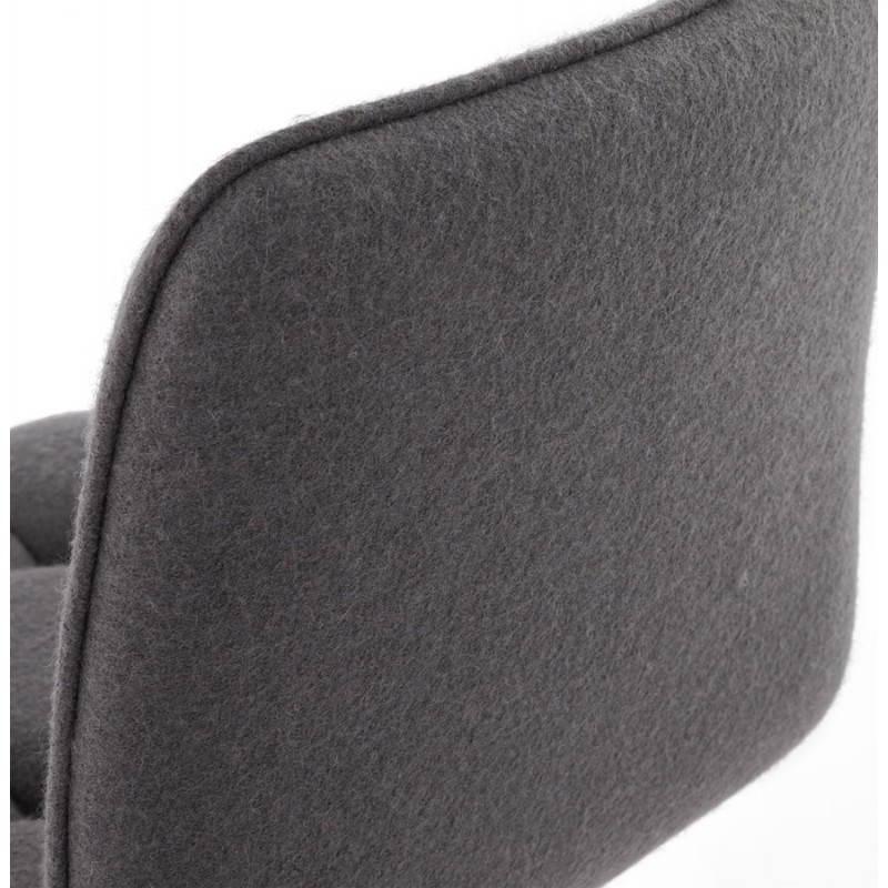 Tabouret de bar design MARGO en tissu et métal brossé (gris foncé) - image 20930