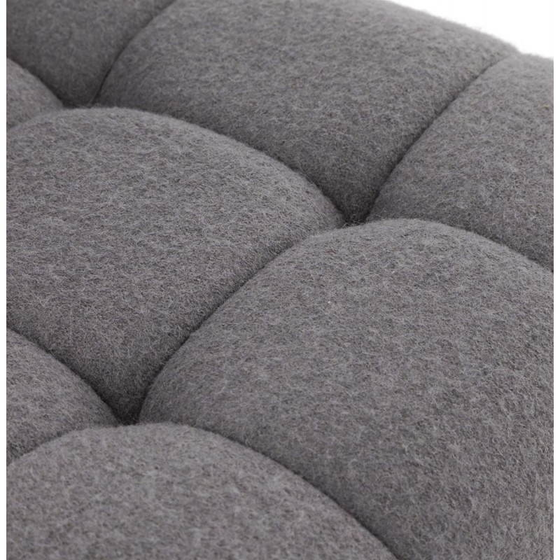 Tabouret de bar design MARGO en tissu et métal brossé (gris foncé) - image 20931