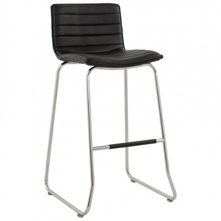 Bar stool design quilted MARGO (black)