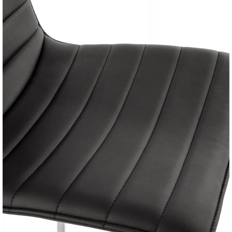 Tabouret de bar design matelassé MARGO (noir) - image 20945
