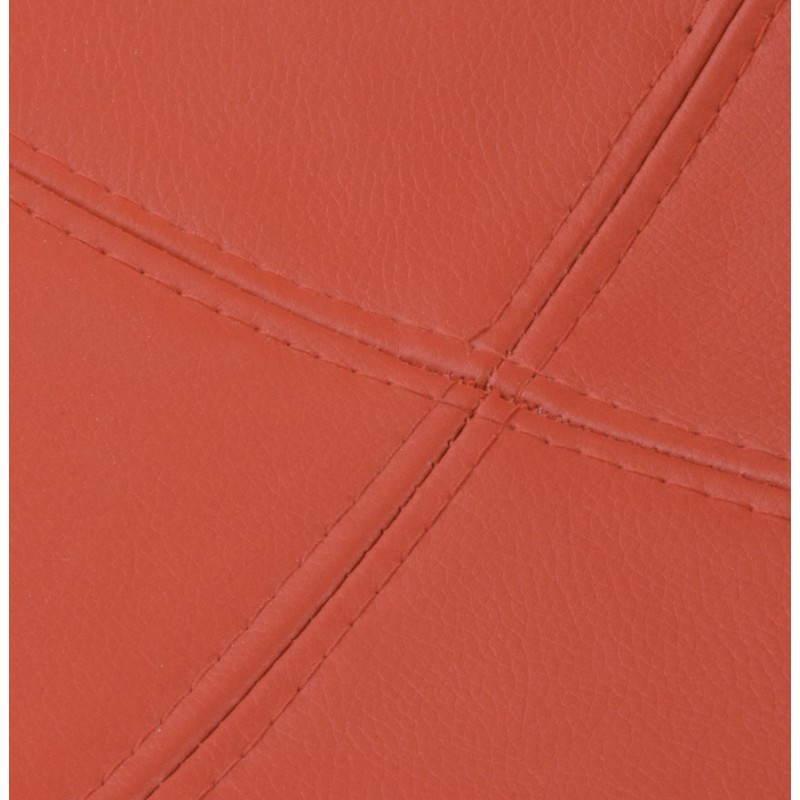 Fauteuil BOULE look trendy-chic pivotant à pieds ajustables (noir rouge) - image 20957
