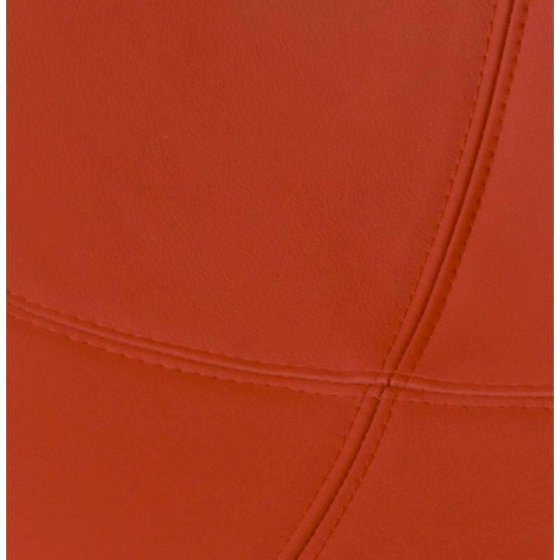 BOULE Sillón moderno de corte minimalista giratorias pies ajustables (rojo blanco) - image 20970