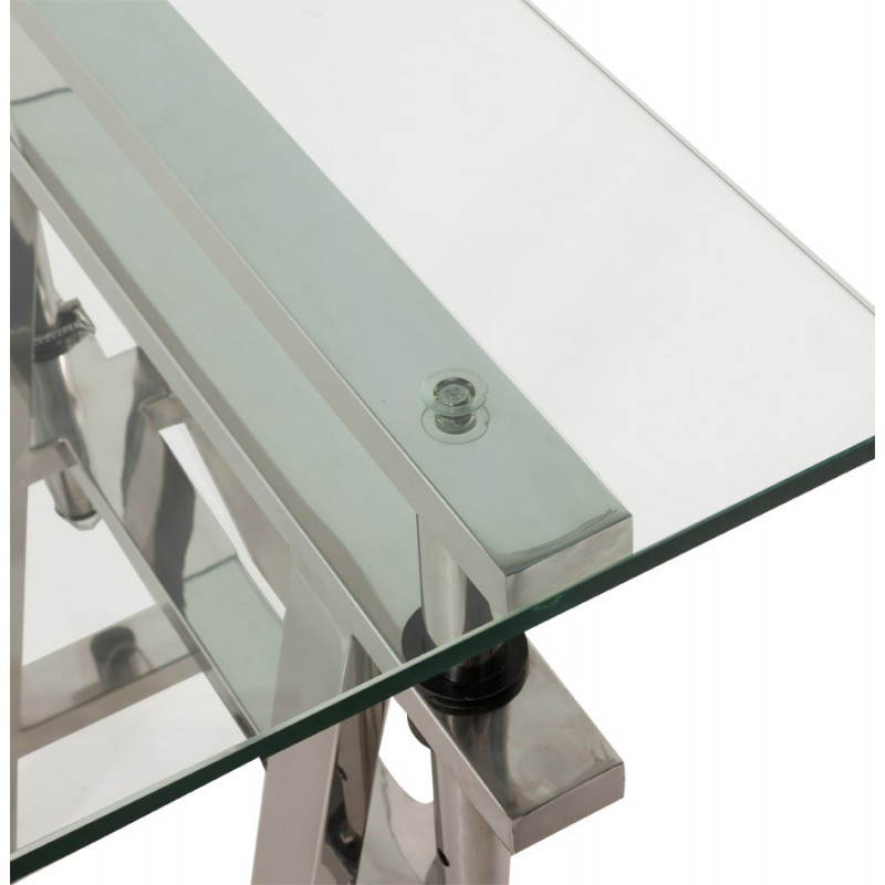 Office design on tempered glass and stainless steel adjustable feet MALDIVES (transparent) - image 20984