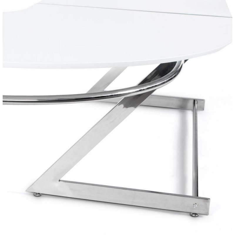 bureau d 39 angle design tutti en bois laqu et m tal chrom. Black Bedroom Furniture Sets. Home Design Ideas