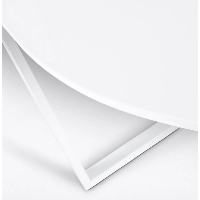 Bureau d'angle design FIDJI en bois laqué et métal peint (blanc) - image 21033