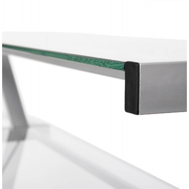 Bureau d'angle design CHILI en acier et verre sécurit teinté (transparent) - image 21063