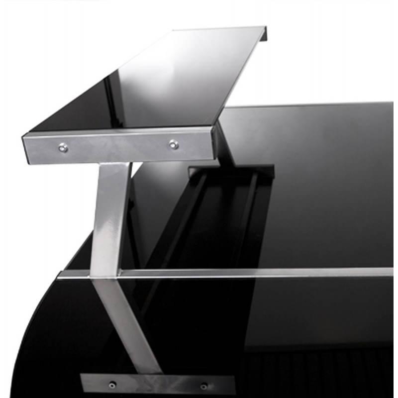 bureau d angle design chili en acier et verre securit teinte noir Résultat Supérieur 49 Incroyable Bureau Verre Noir Design Image 2017 Ojr7