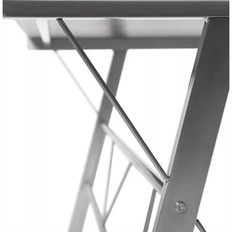 Bureau d'angle design CHILI en acier et verre sécurit teinté (noir) - image 21075