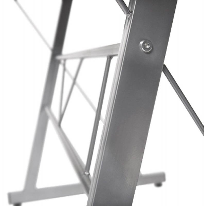 Bureau d'angle design CHILI en acier et verre sécurit teinté (noir) - image 21076
