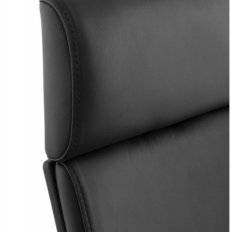Ergonomic design office CUBA (black) leather armchair - image 21089