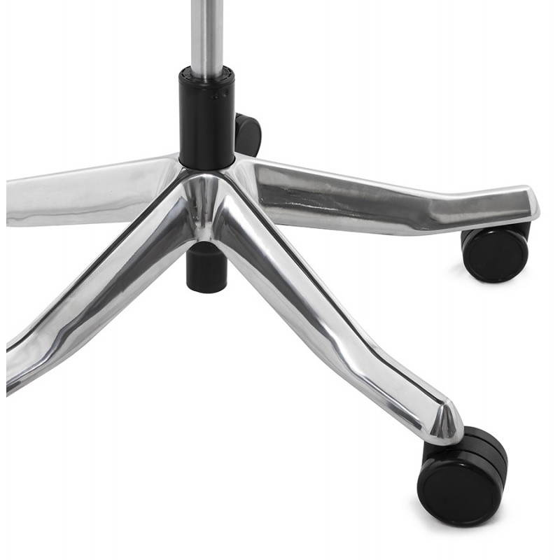 Fauteuil de bureau design ergonomique CUBA en cuir (noir) - image 21101