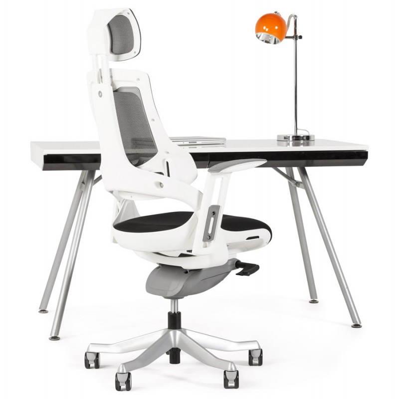 fauteuil de bureau design ergonomique bahamas en tissu noir. Black Bedroom Furniture Sets. Home Design Ideas
