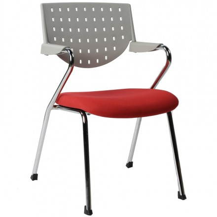 Design office Bermuda (red and grey) fabric Chair