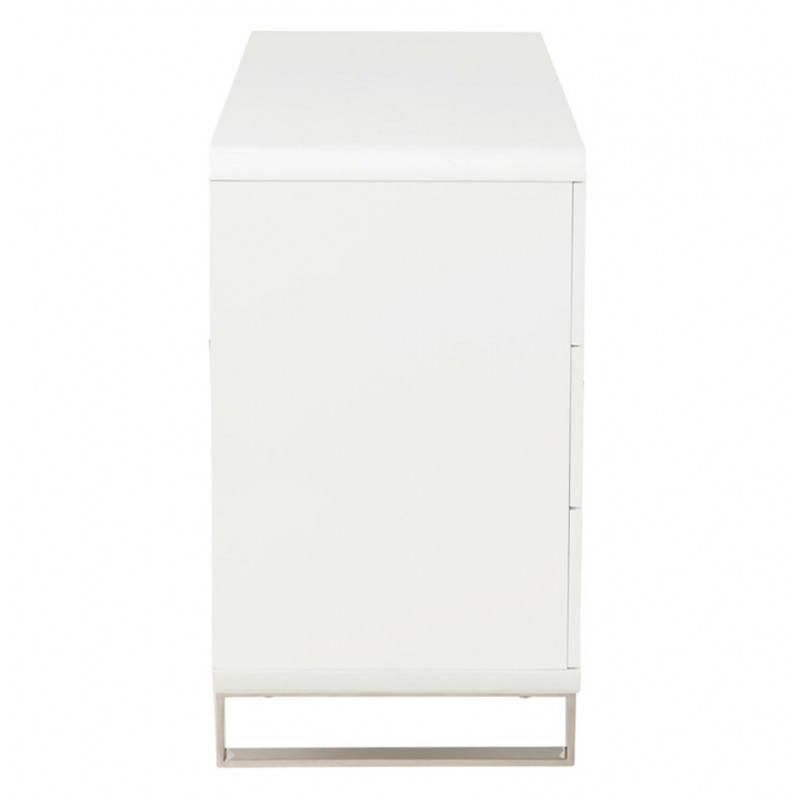 Meuble de rangement bas CORSE en bois laqué (blanc) - image 21160