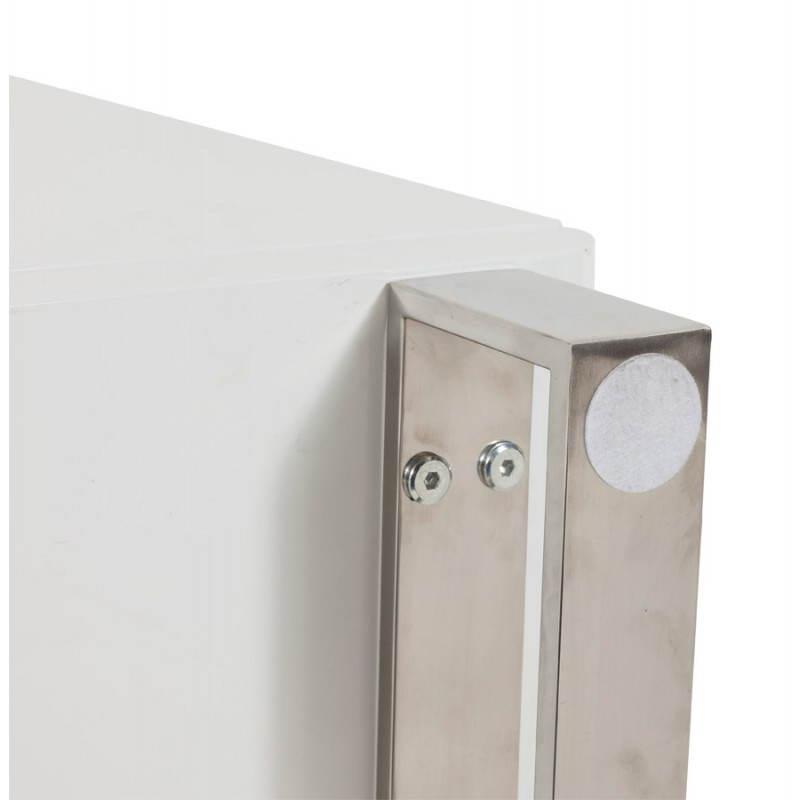 Meuble de rangement bas CORSE en bois laqué (blanc) - image 21164