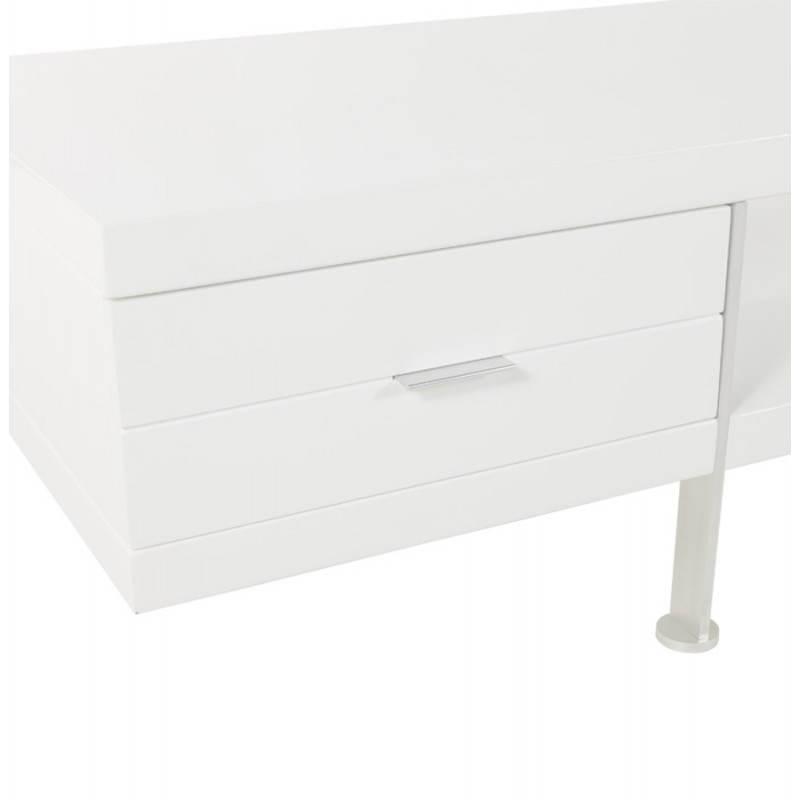 Meuble TV PORQUEROLLES en bois laqué (blanc) - image 21170