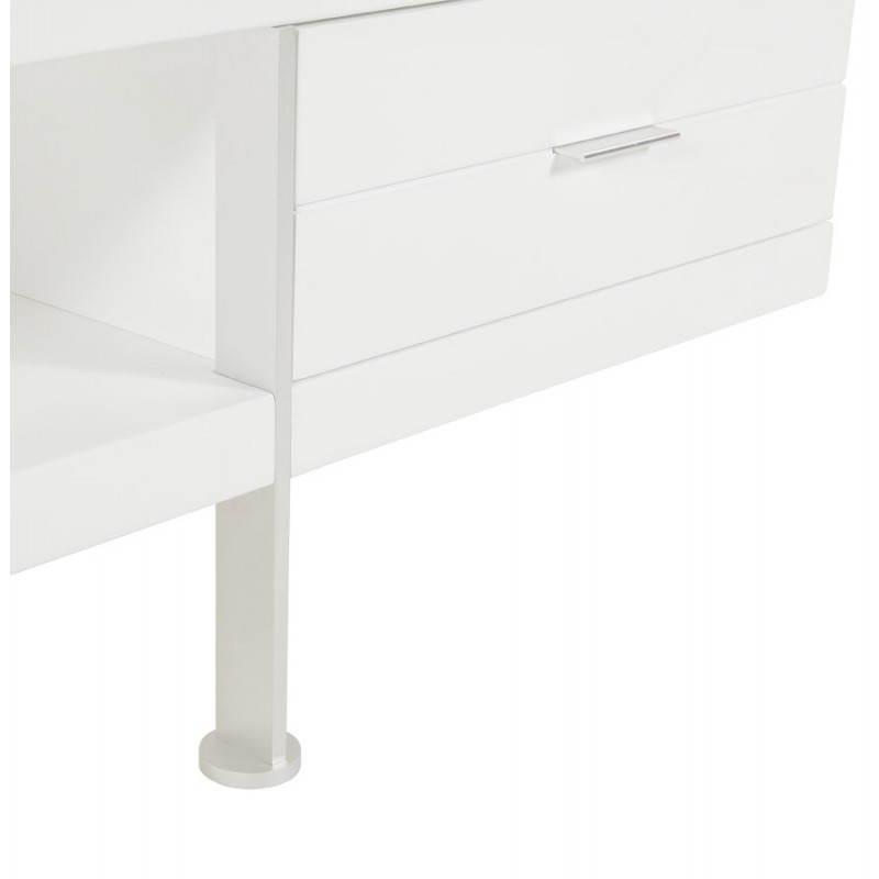 Meuble TV PORQUEROLLES en bois laqué (blanc) - image 21172