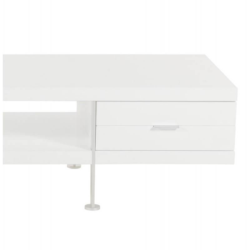 Meuble TV PORQUEROLLES en bois laqué (blanc) - image 21173
