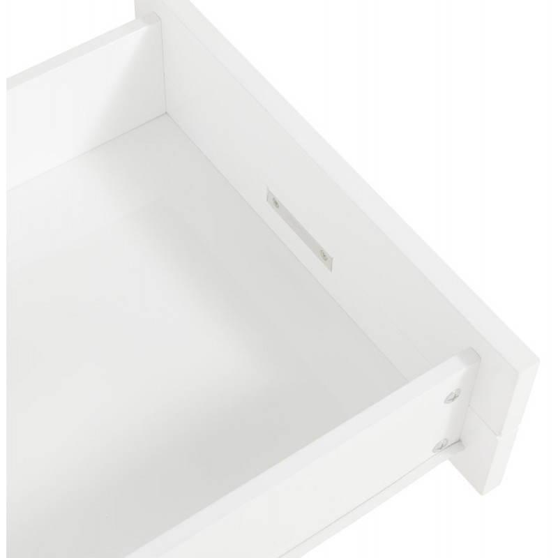 Meuble TV PORQUEROLLES en bois laqué (blanc) - image 21175