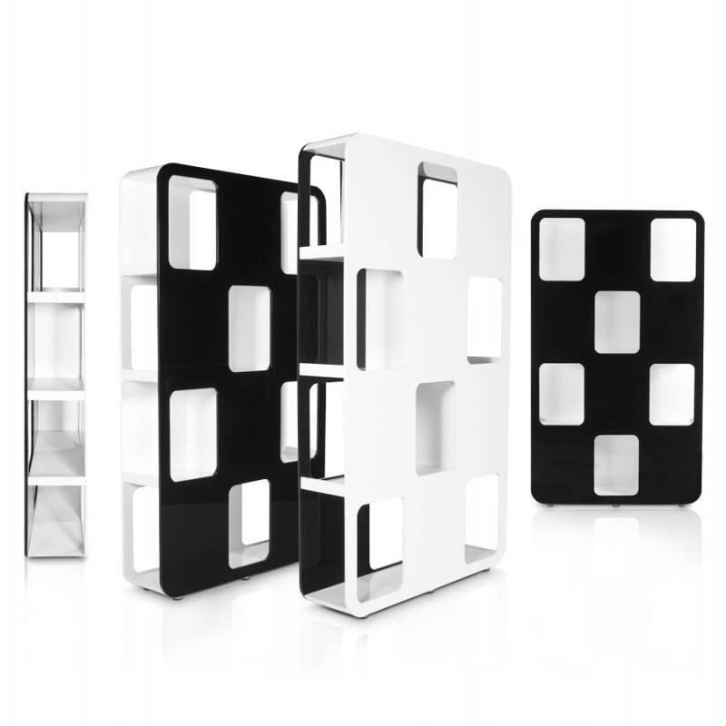 Shelf or screen LAGOON lacquered wooden (black and white) - image 21189
